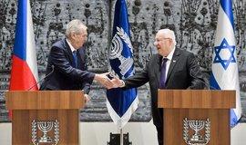 Prezident Miloš Zeman a jeho izraelský protějšek Reuven Rivlin