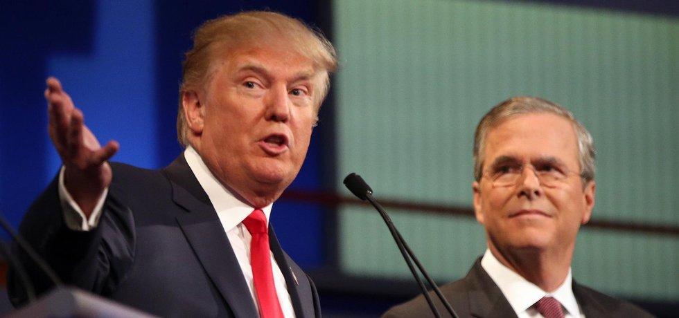 Donald Trump a Jeb Bush