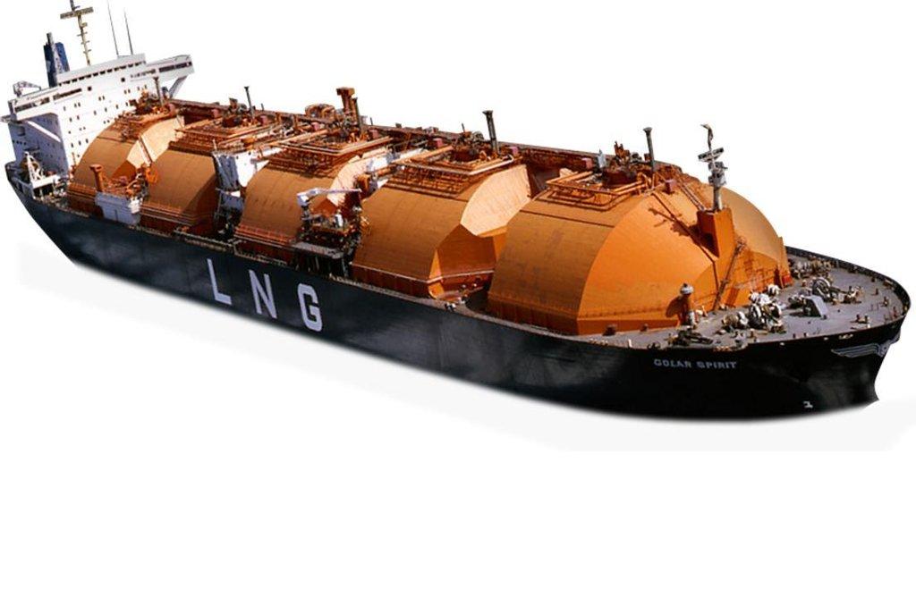 Tanker pro přepravu zkapalněného zemního plynu (LNG) Golar Spirit z roku 1981. Měl kapacitu 129 tisíc kubíků.
