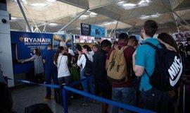 Zrušený let firmy Ryanair, ilustrační foto