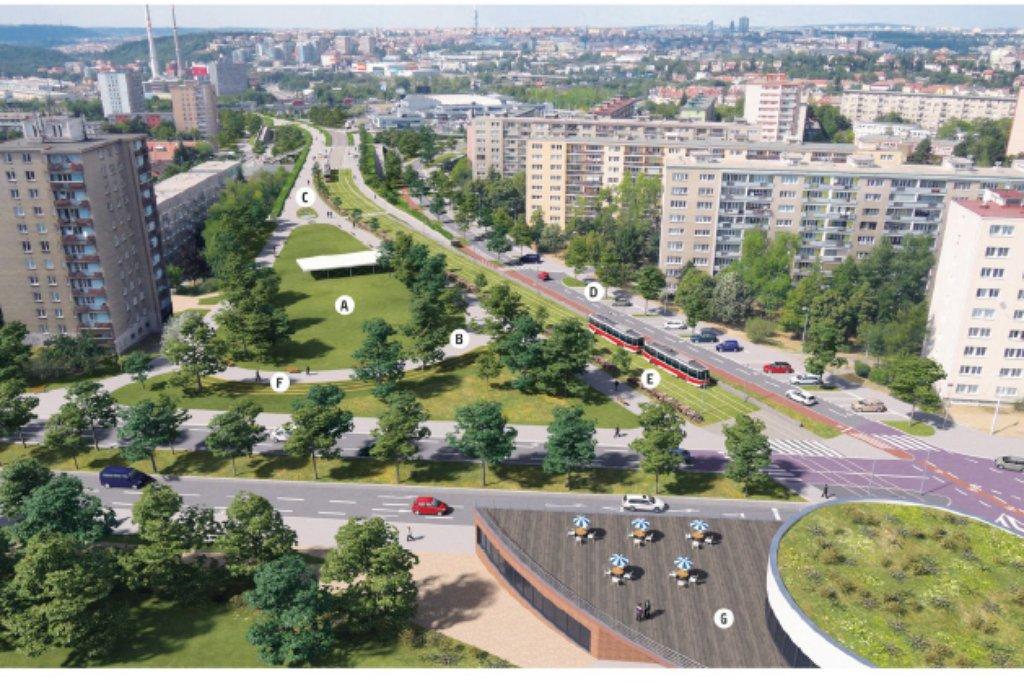 Praha chce schovat Spořilovskou spojku pod střechu z parku
