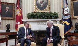 Sergey Lavrov a Donald Trump v Bílém domě
