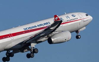 Letadlo společnosti Sichuan Airlines