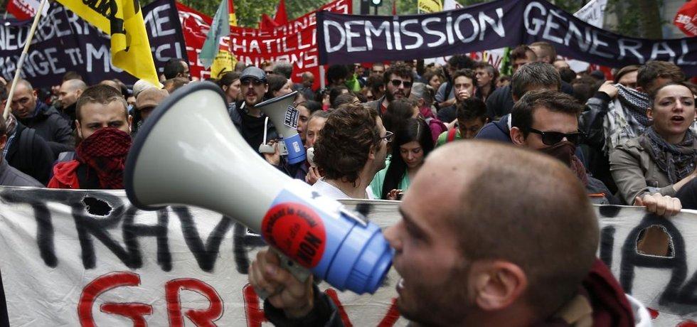 stávka_francie_zákoník_práce