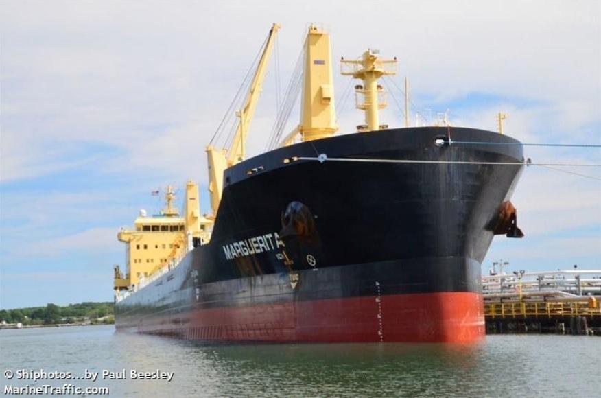Loď na sypký náklad Marguerita v přístavu Portland ve státě Maine v roce 2016.