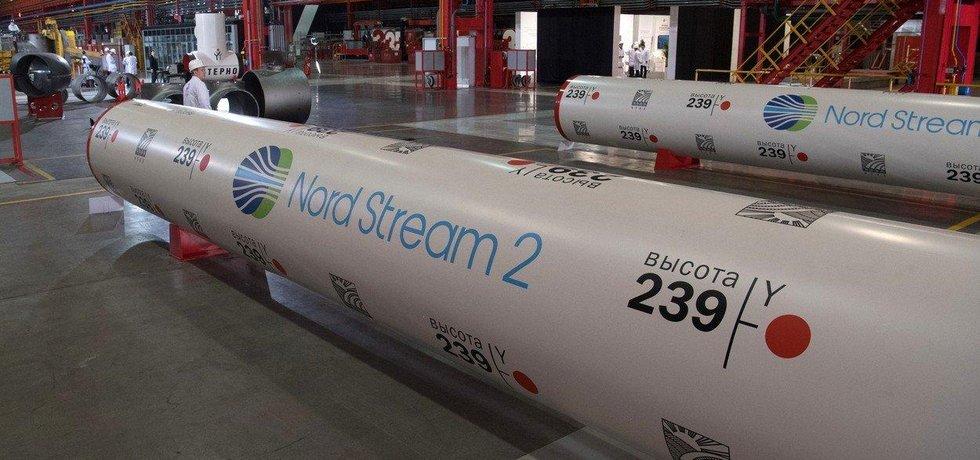 Potrubí pro stavbu plynovodu Nord Stream 2