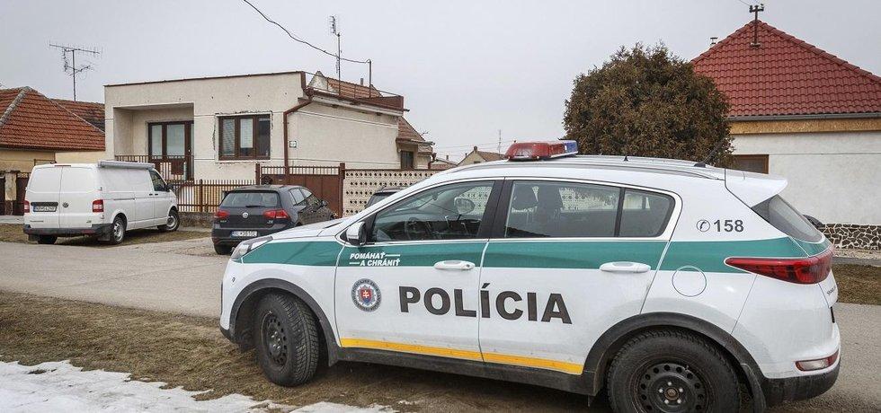 Zásah slovenské policie na místě vraždy novináře Jána Kuciaka a jeho přítelkyně