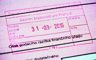 Razítko finančního úřadu, ilustrační foto