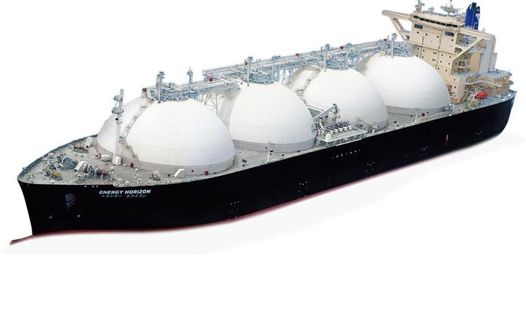 Tanker pro přepravu zkapalněného zemního plynu (LNG) Energy Horizon z roku 2010. Měl kapacitu 177 tisíc kubíků.