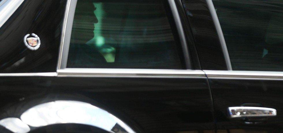 Americký prezident Donald Trump na cestě ze své newyorské rezidence