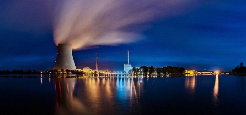 Jaderná elektrárna Isar v Bavorsku, ilustrační foto