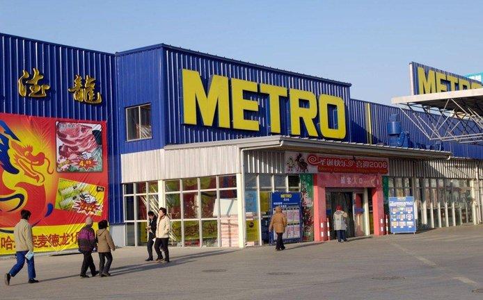 Supermarket Metro v Číně, ilustrační foto