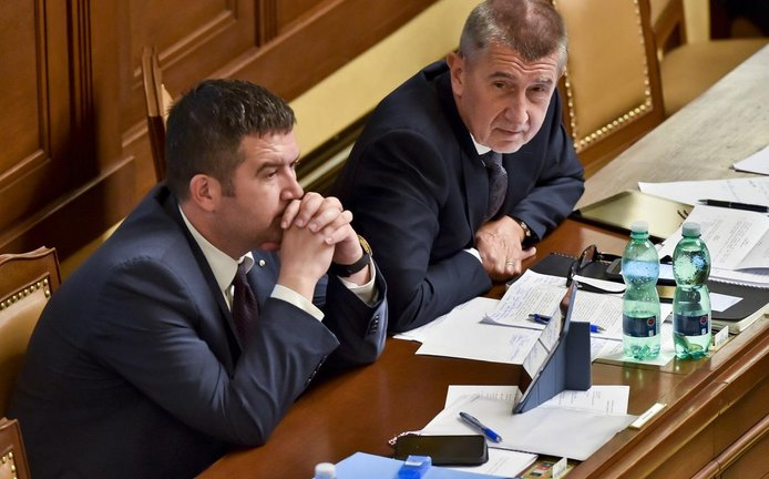 Ministr vnitra Jan Hamáček a premiér Andrej Babiš