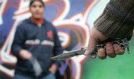 Napadení nožem, ilustrační foto