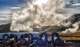 Geotermální elektrárna Helisheidi na Islandu, která má jako prnví na světě záporné saldo emisní bilance