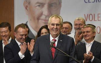 Miloš Zeman po zveřejnění výsledku prezidentských voleb