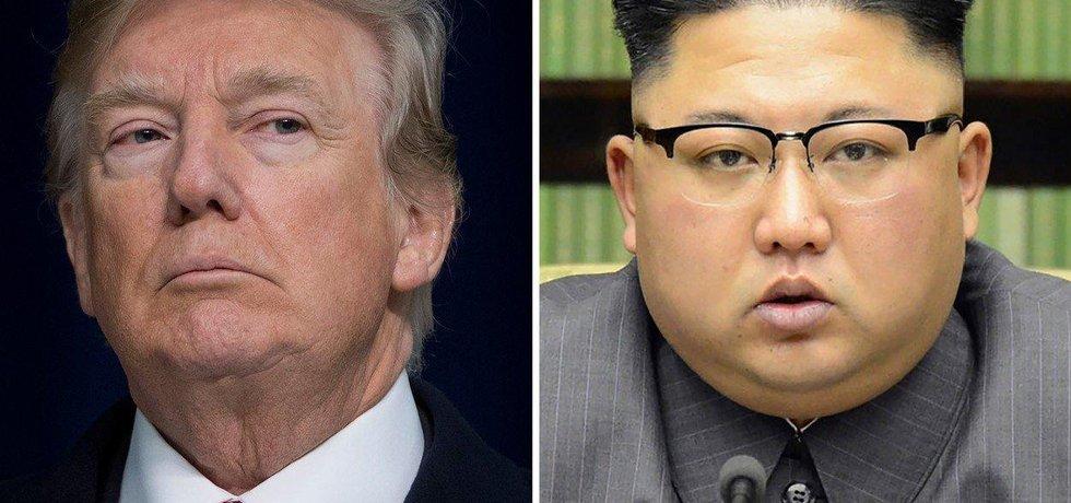 Americký prezident Donald Trump a severokorejský vůdce Kim Čong-un