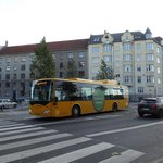 Čínský autobus BYD K9 v Kodani v roce 2015.