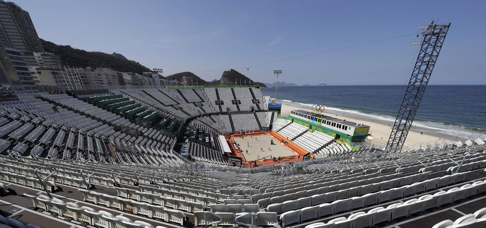 Stadiony v Riu zatím zejí prázdnotou