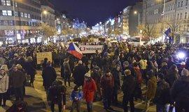 Demonstrace Zemane - ČT nedáme!