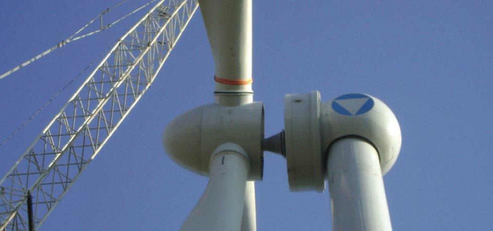 Turbína ve větrném parku v Kalmycku