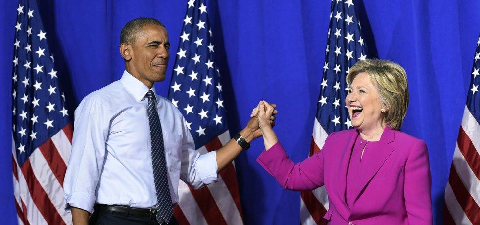 Barrack Obama a Hillary Clintonová (Zdroj: ČTK)