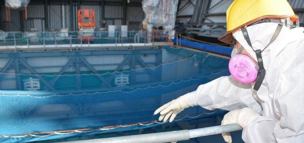 Místo, kde býval umístěn třetí reaktor fukušimské elektrárny