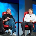 Steve Jobs a Bill Gates v roce 2007.