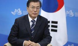 Jihokorejský prezident Mun Če-in na humanitární pomoc severnímu sousedovi nerezignuje