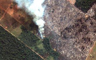 Požár pralesa v Brazílii