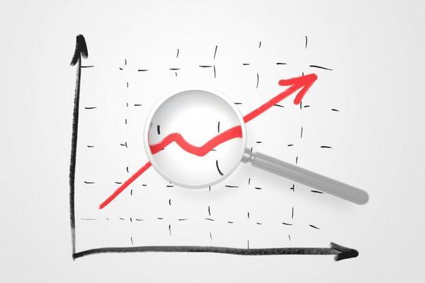 graf, statistika, růst, lupa, kontrola, audit