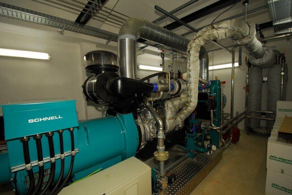 Kogenerační jednotka ve které se plyn doupravuje