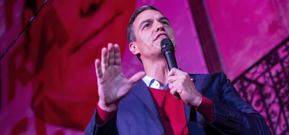 Předseda španělských socialistů Pedro Sánchez