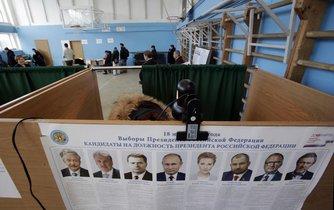 Ruské prezidentské volby - volební místnost