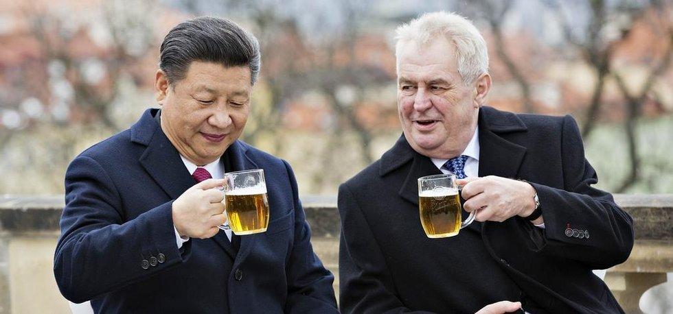 Prezident Miloš Zeman a jeho čínský protějšek Si Ťin-pching, archivní foto