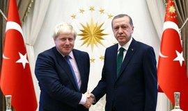 Boris Johnson s Recepem Tayyipem Erdoganem.