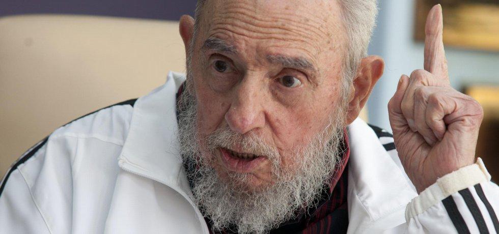 Fidel Castro (foto z července 2014)