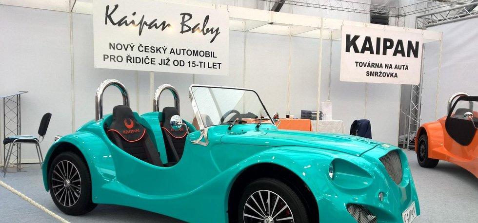 Malý český výrobce sportovních automobilů Kaipan představil model kabrioletu pro patnáctileté Kaipan Baby.