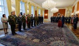 Prezident Miloš Zeman jmenoval 28. října 2018 nové generály Armády ČR při ceremoniálu v reprezentačních prostorách Pražského hradu.