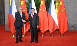 Prezident Miloš Zeman se svým čínským protějškem Si Ťin-pchingem