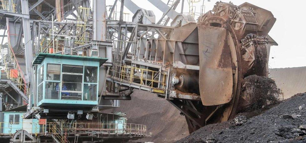 Těžba hnědého uhlí společností Mibrag