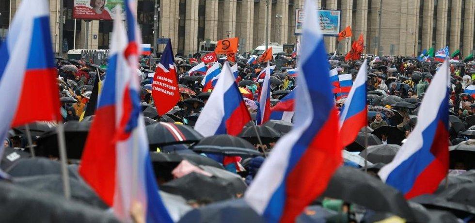 Masová demonstrace v Moskvě