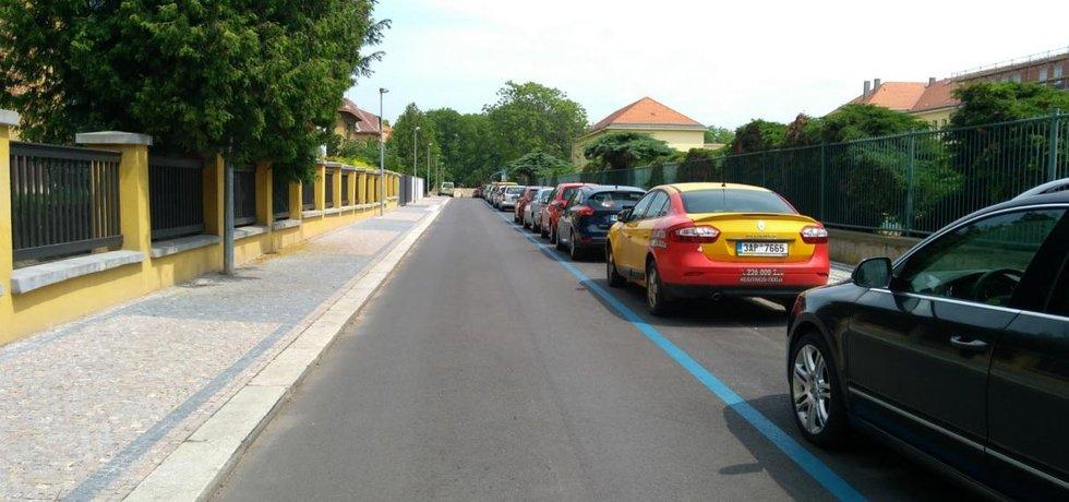 Jedna z pražských modrých zón