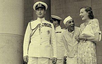 Lord Mountbatten, Džaváharlál Nehrú a Edwina Mountbattenová