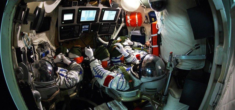 Čínští astronauti v akci (ilustrační foto)