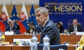 Premiér Andrej Babiš před začátkem jednání zástupců 16 nových a chudších zemí EU ze skupiny Přátelé koheze