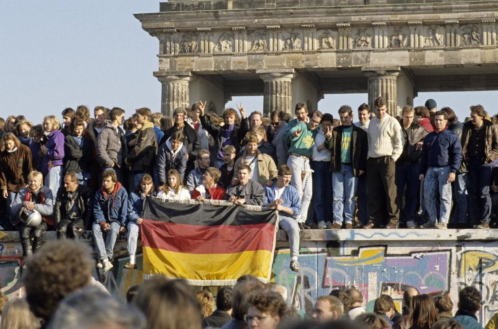 Pád berlínské zdi v roce 1989