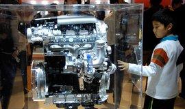 Motor vozu Volkswagen na automobilové přehlídce v Pekingu