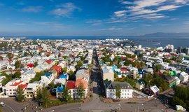 Centrum islandského hlavního města Reykjavíku