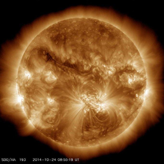 Slunce, stav 24.10.2014